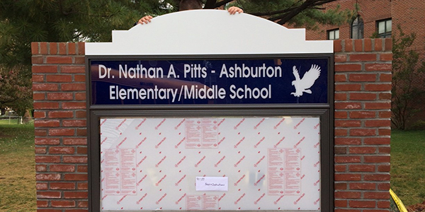 New Lighted Sign - Baltimore City Schools