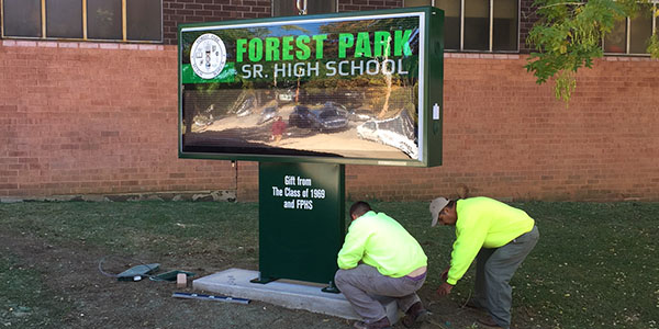 Forest Park High School New Sign Installation